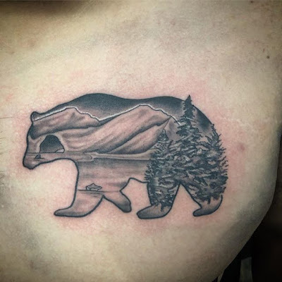 Simple Bear Tattoo
