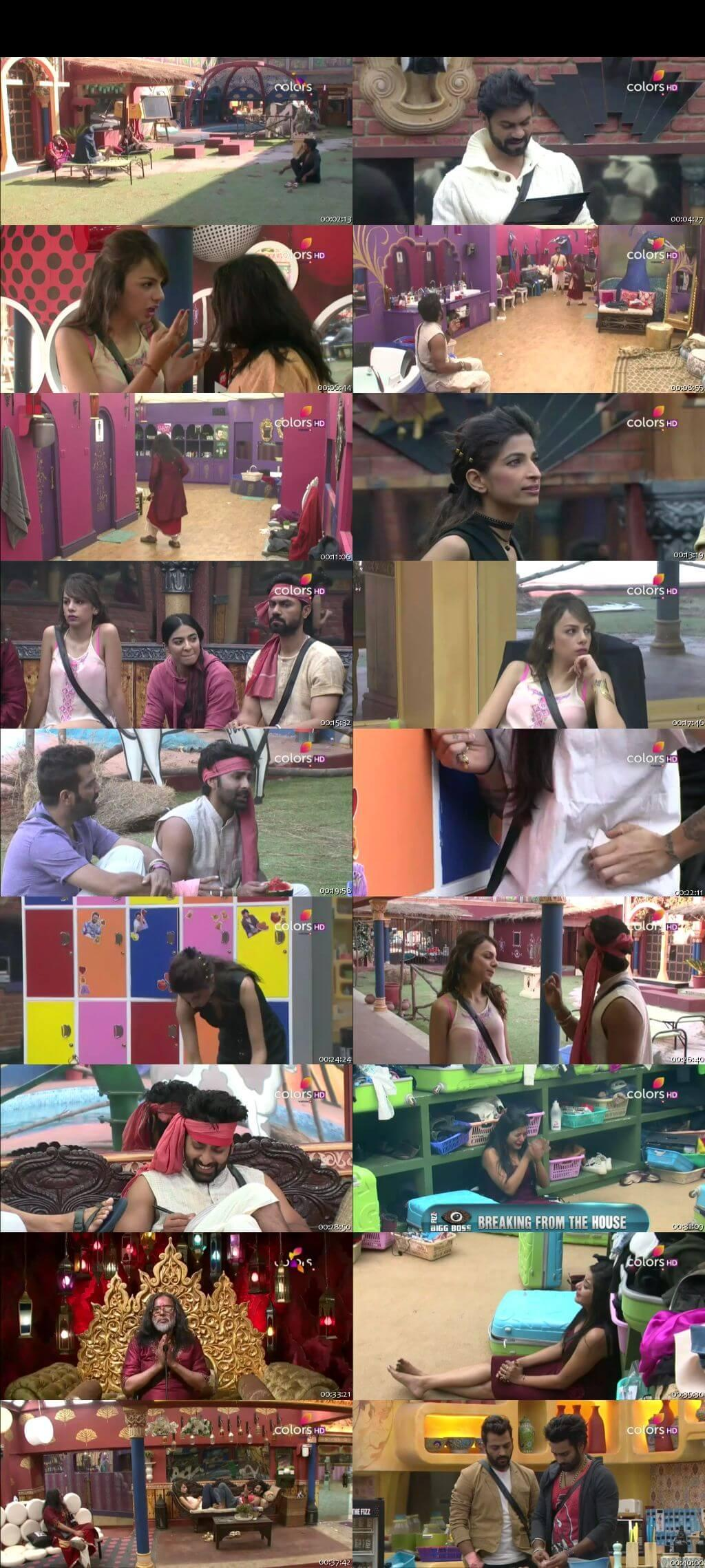 Screenshots Of Hindi Show Bigg Boss 10 20th December 2016 Episode 66 300MB 480P HD