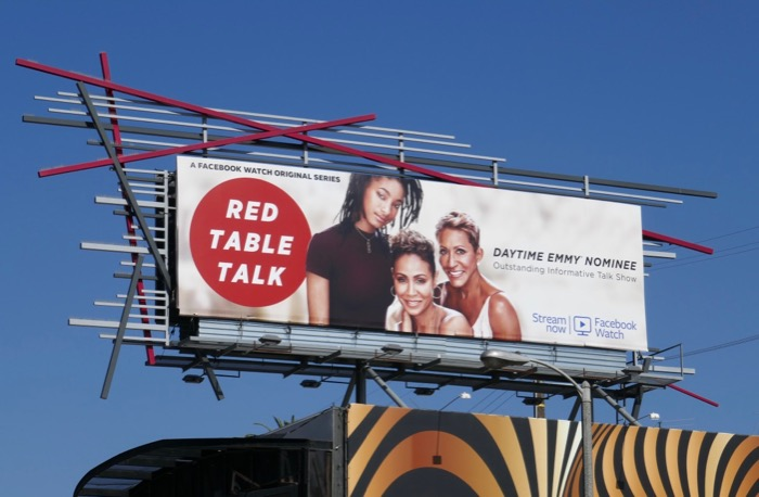 Red Table Talk Daytime Emmy nominee 2019 billboard