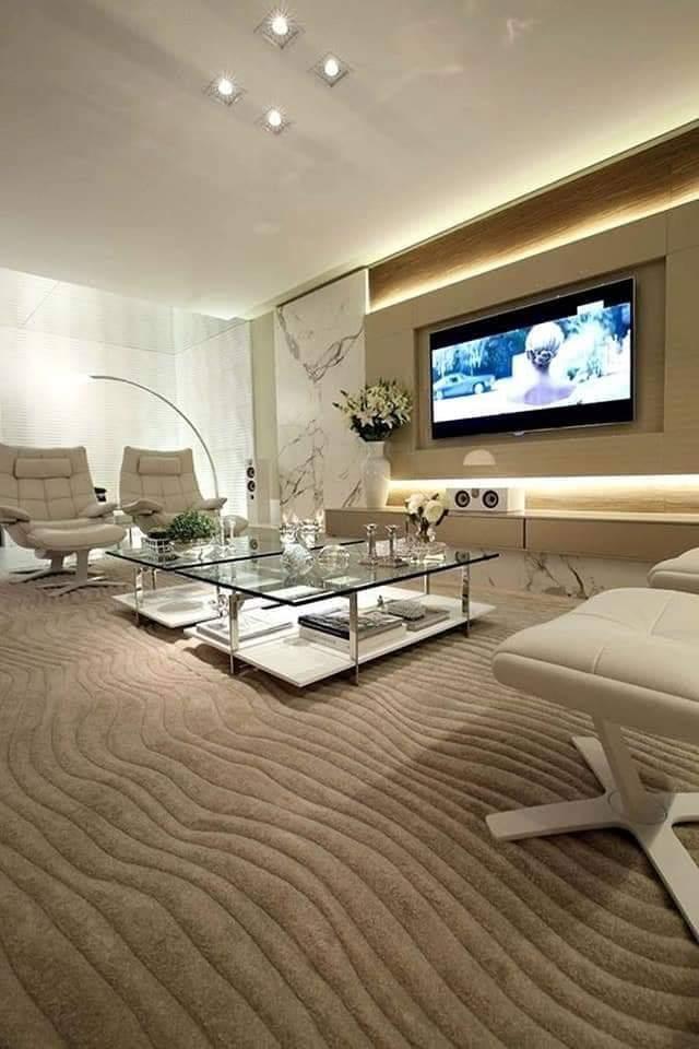 افكار تصميم ديكورات جبس بورد للتلفزيون في غرف الجلوس والصالات