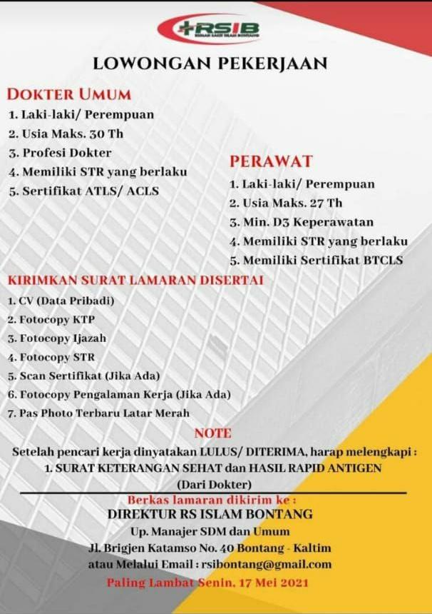 Loker Dokter Umum RS Islam Bontang-Kalimantan Timur