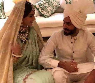 Sonam Kapoor With Her Husband