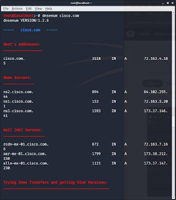 DNS enumeration using dnsenum