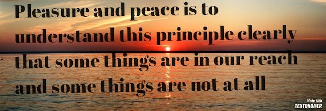 Pleasure and peace