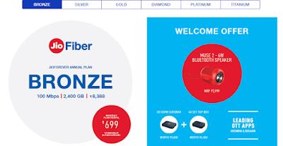 jio fiber bronze welcome offer