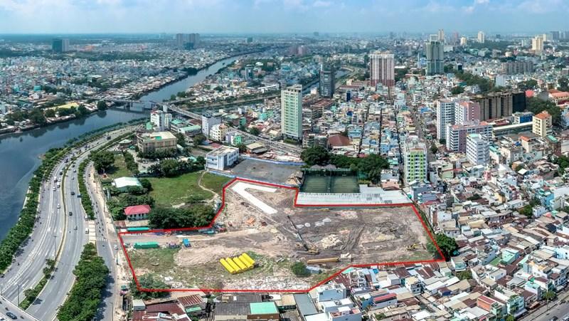 Công trường dự án Dragon Riverside City