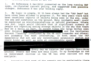 Extract From One of the New Files Refers to the Famous Rendlesham Forest UFO Incident (David Clarke)