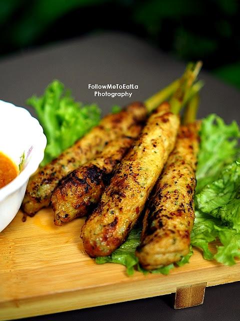 Grilled Lemongrass Chicken Skewers or Nem Lụi Gà