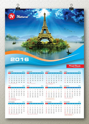 illustrasi desain kalender