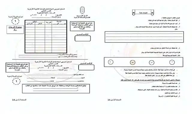 امتحان الازهر التجريبي في اللغة الانجليزية (مايو) للصف الثالث الثانوى 2021 الثانوية الازهرية