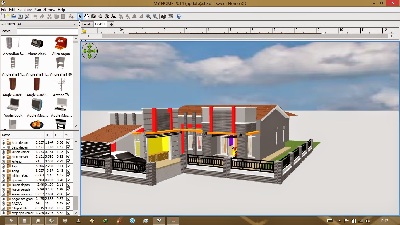 Aplikasi Desain Rumah Gratis PC Sweet Home 3D