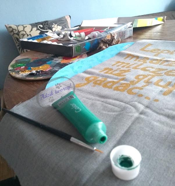 Malowanie tkanin diy blog - Adzik tworzy