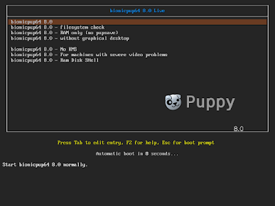 Puppy linux Boot