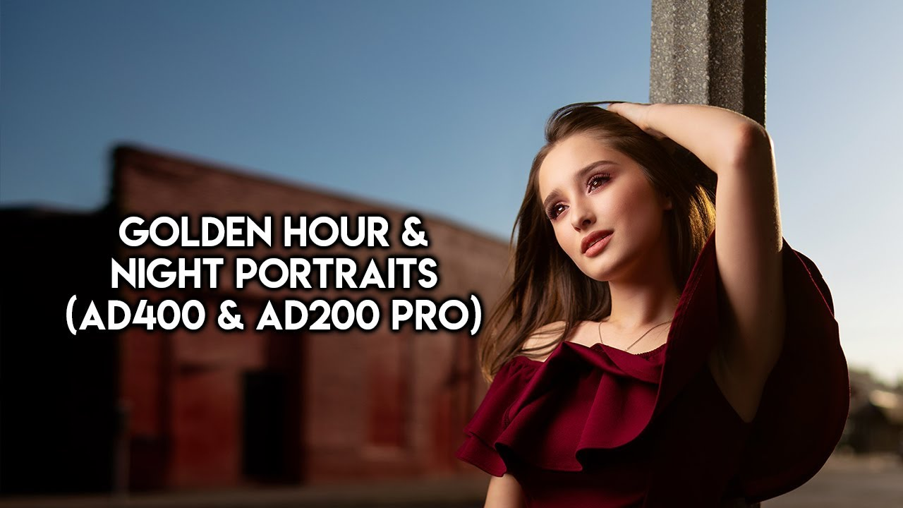 Golden Hour & Night Portraits with Flashes