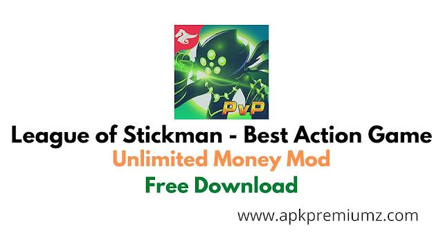 League of stickman best action game mod unlocked apk download