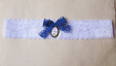 image bridal garter lace something blue jane eyre i married him bronte navy white cameo quote literature two cheeky monkeys handmade etsy