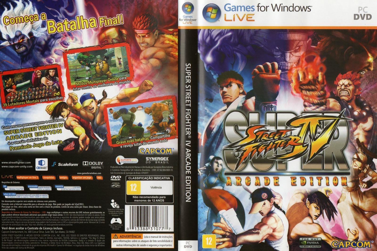 Super Street Fighter IV Arcade Edition PC DVD Capa