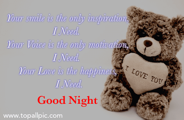 good night teddy bear quotes images