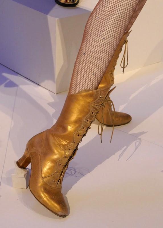 Anne Wheeler Greatest Showman gold boots