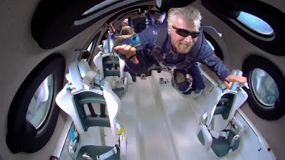 Richard Branson in space #Unity22 - Photo: Virgin Galactic