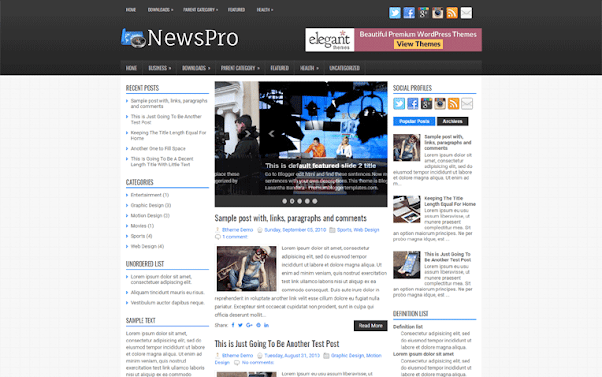 NewsPro Free Blogger Template