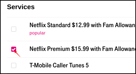T-Mobile إزالة Netflix