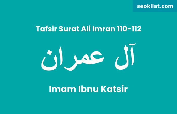 Tafsir Surat Ali Imran ayat 110