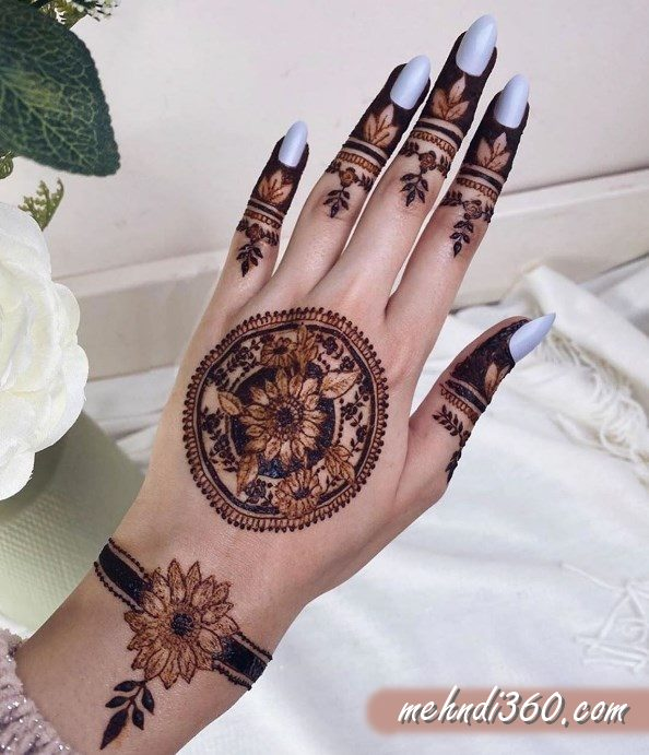Mandala Mehndi Design back Hand