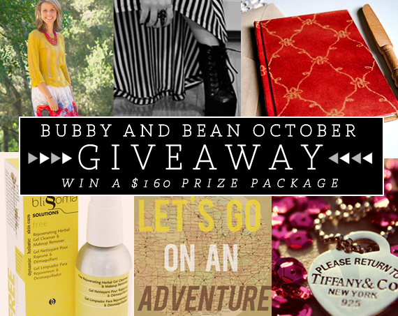 Bubby and Bean October Giveaway!