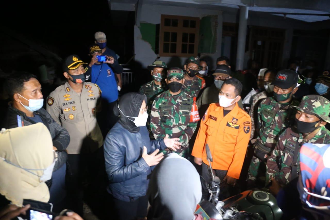 Menteri Sosial Pantau Dampak Gempa di Lumajang