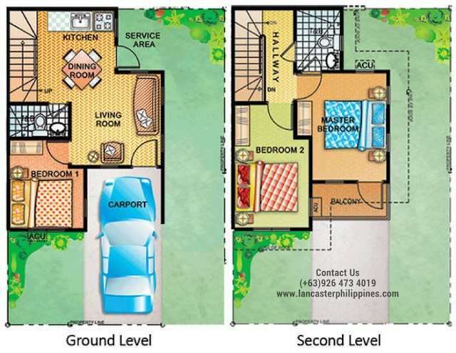 Floor Plan of Diana - Lancaster New City Cavite | House and Lot for Sale Imus-General Trias Cavite