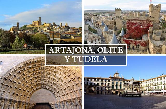Tres imprescindibles de Navarra: Artajona, Olite y Tudela