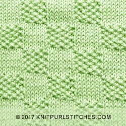 Moss Stitch Checks