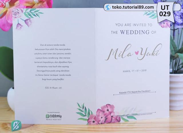 Undangan pernikahan UT029 - Seimpel Lipat 2 +free kartu ucapan terima kasih