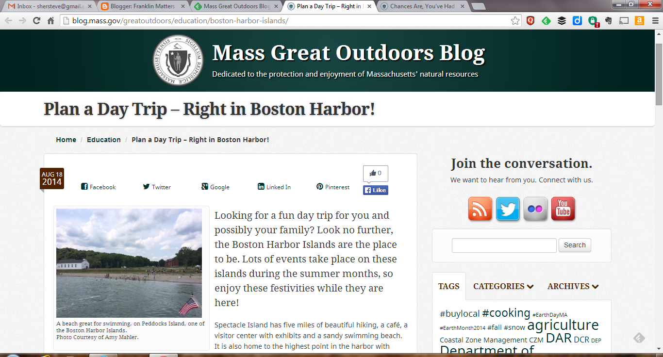Plan a Day Trip – Right in Boston Harbor!