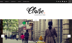 Claire Clean & Responsive Blogger Template