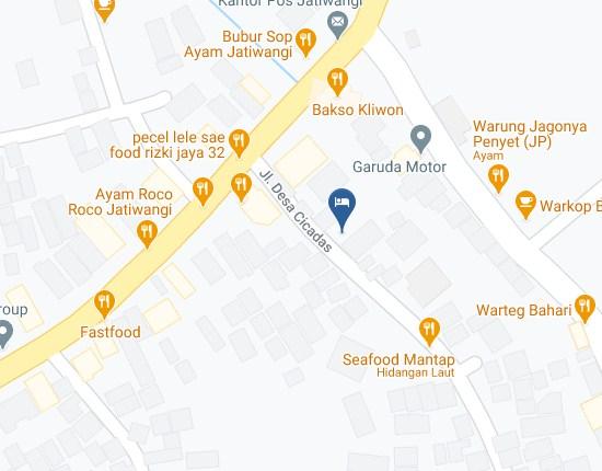 Map Letak Hotel Jatiwangi Guesthouse Majalengka