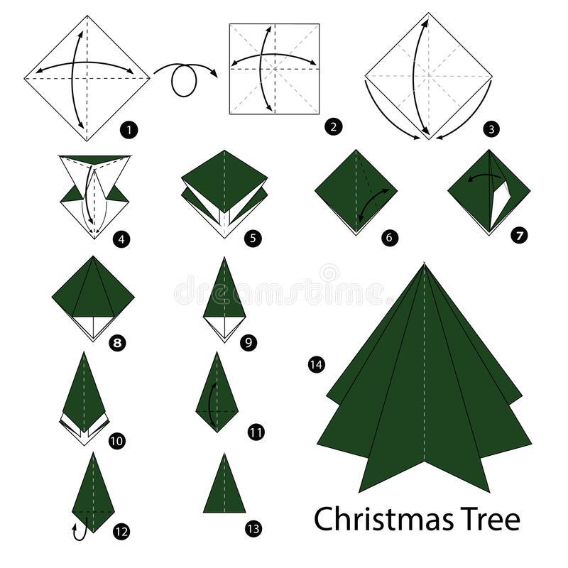 Manualidades rbol de navidad en origami - Arbol de navidad origami ...