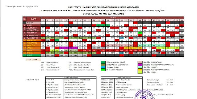 Kalender Pendidikan Madrasah 2020-2021