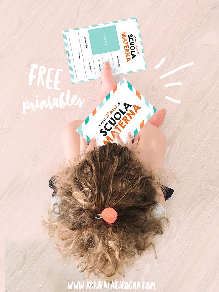 free printables primo giorno secondo anno scuola materna