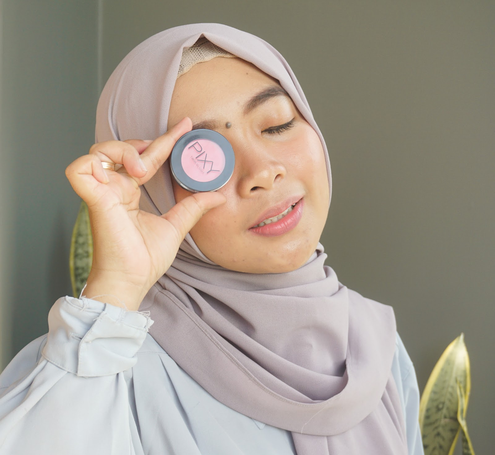 review pixy twin blush active pink, swatch pixy twin blush active pink
