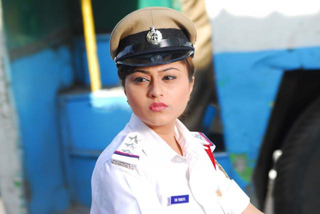 Actress Ramya Barna Latest Stills In Police Dress Navel Queens