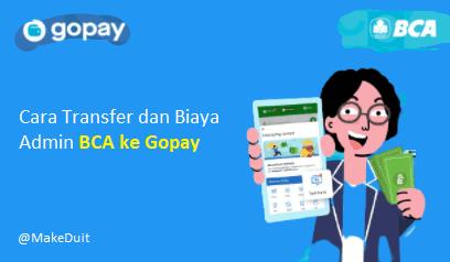 Cara Transfer dan Biaya Admin BCA ke Gopay