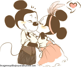 Mickey y minnie mouse enamorados