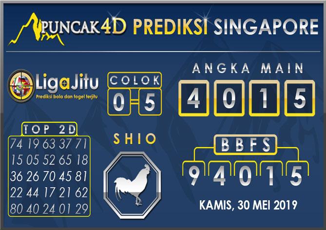 PREDIKSI TOGEL SINGAPORE PUNCAK4D 30 MEI 2019