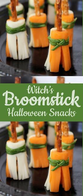 Witch's Broomstick Snacks | Easy Halloween Party Snacks #Snacks #Halloween