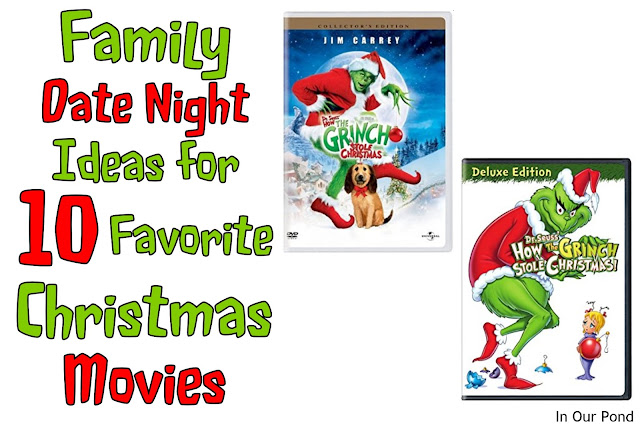 family date night ideas for 10 christmas movies