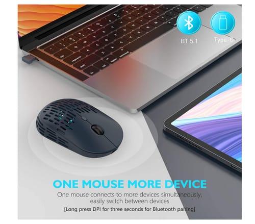 RAPIQUE Dual Mode Rechargeable Silent Wireless Mouse