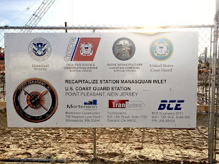 Station Manasquan Inlet construction project sign