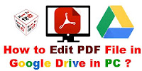 How to Edit PDF File in Google Drive in PC?